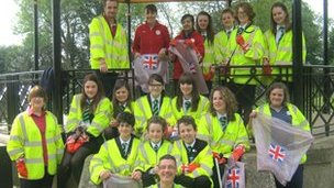 Catmose College litter picking