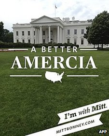 "Picture of the White House taken with ""With Mitt"" app in Washington DC 30 May 2012"
