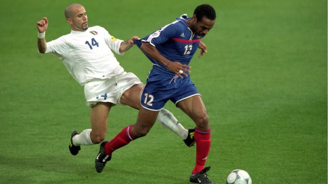 Italy's Luigi Di Biagio and France's Thierry Henry
