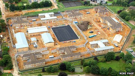 Sex offender prison on site of former RAF Coltishall, Norfolk (Photos: Mike Page)