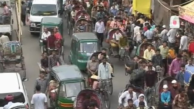 Commuters in Dhaka
