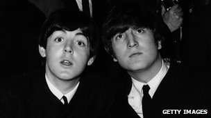 Paul McCartney (left) and John Lennon