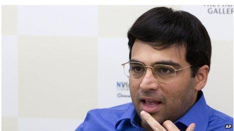 World Chess champion Viswanathan Anand