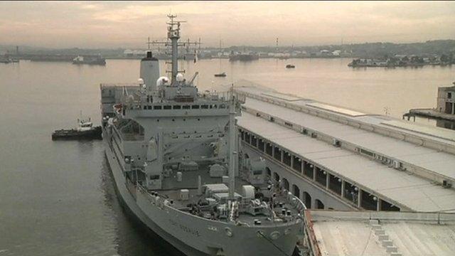 RFA Fort Rosalie docked in Havana