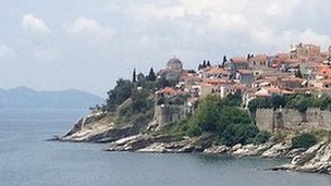 A view of Kavala, Greece