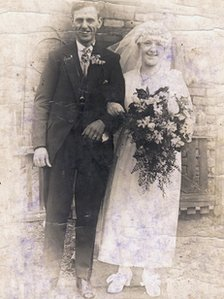 Henry and Jeanie Riley on their wedding day in April 1922
