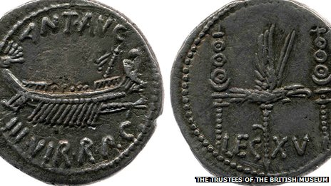 Coin similar to the 32 BC coin in the hoard