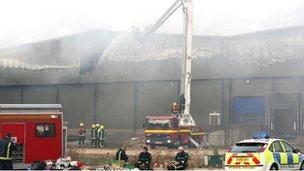 Warehouse blaze