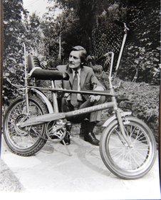 Designer Alan Oakley with a Chopper