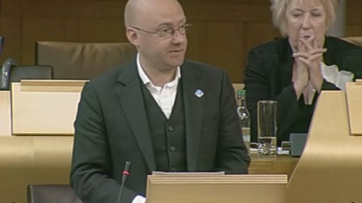 Scotland Green MSP Patrick Harvie
