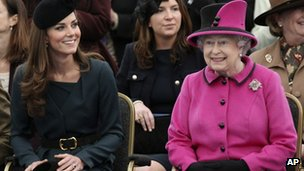 Duchess of Cambridge and the Queen