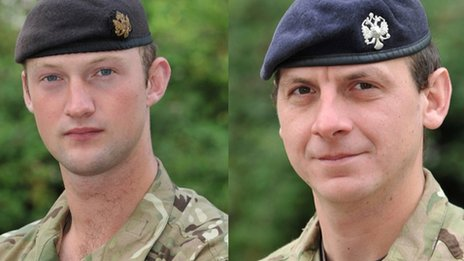 Lt David Boyce (L) and L/Cpl Richard Scanlon died in Afghanistan in 2011