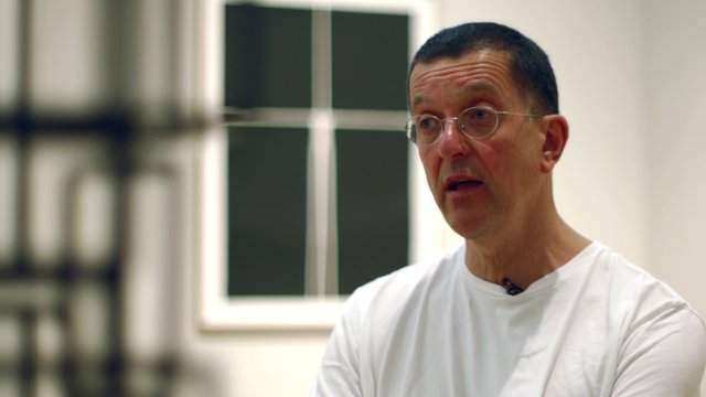 Antony Gormley at exhibition