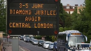 A congestion warning for motorists in London