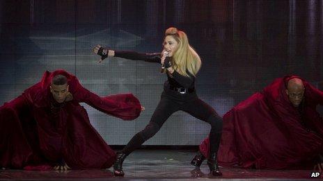 Madonna in concert in Tel Aviv