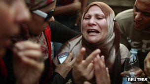 Woman at an election rally in Egypt
