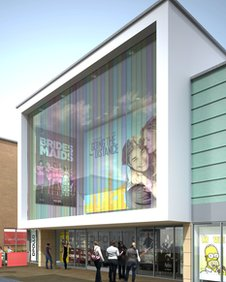 An artist's impression of the cinema in Daventry
