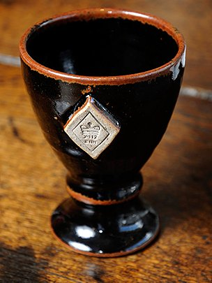 Diamond Jubilee commemorative stoneware goblet
