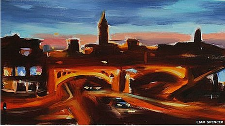 Liam Spencer's Deansgate and Whitworth Street at Twilight