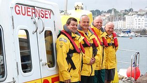Crew of Guernsey marine ambulance - Flying Christine III