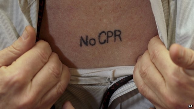 A &#039;no CPR&#039; tattoo