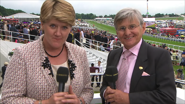Clare Balding and Willie Carson