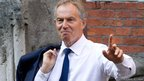 Former British Prime Minister Tony Blair at the Royal Courts of Justice