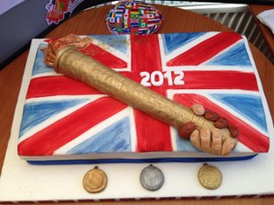 This superb Olympic cake is at Blackburne House on Hope Street