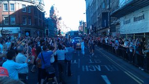 Torch travels along Renshaw Street to Lime Street
