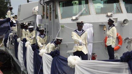 NSS Andoni - a Nigerian warship