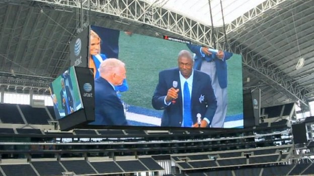 Big screen at Dallas Cowboys' stadium