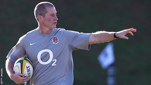 Stuart Lancaster taking England training in South Africa