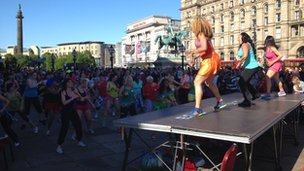 Zumba action in Liverpool