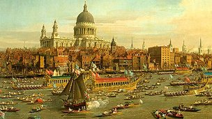 River Thames on Lord Mayor&#039;s Day, circa 1748-9  - Canaletto