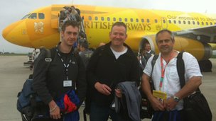 BBC team about to board Firefly
