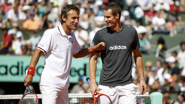 Mats Wilander (left) with Andy Murray