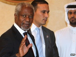 Mr Annan said the conflict was already having an impact on neighbouring Arab states
