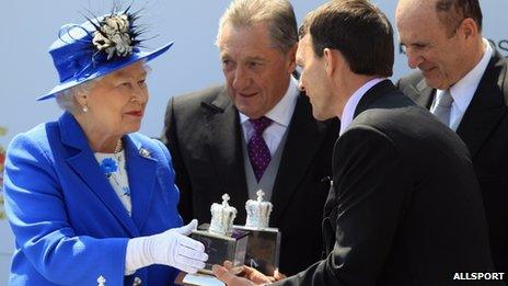 The Queen with Aidan O'Brien