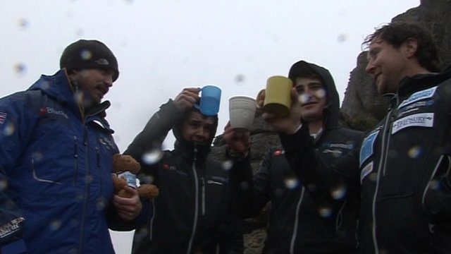 The group have been training ahead of their tea part in the Arctic