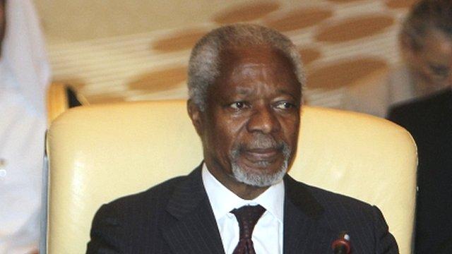 UN peace envoy Kofi Annan