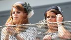 Princesses Beatrice and Eugenie at the Epsom Derby