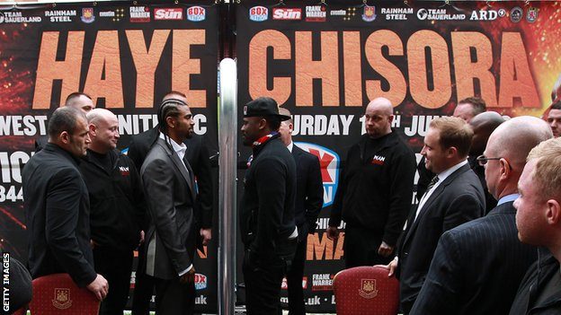 Dereck Chisora and David Haye