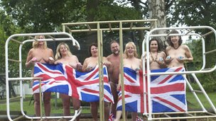 Members of the Spielpltatz Naturists Centre