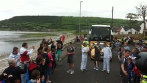 Torch 'kiss' in Carnlough
