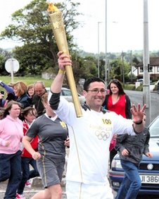 Ciaran Kinney carries the torch