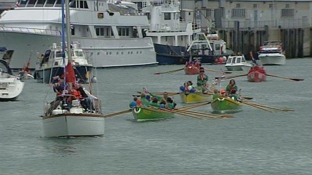 Weymouth Jubilee sail-past