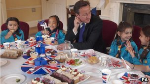 David Cameron and scouts