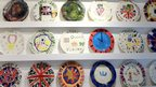 Diamond Jubilee plates made by schoolchildren in Nottinghamshire