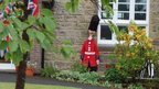 Guardsman stands to attention