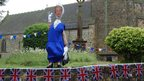 Queen outside West Hoathly church